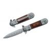 Tac Force – Couteau automatique Stilleto QUICK SPIN II – Manche bois – #TF517W