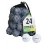Second Chance Dunlop 24 Balles de golf de récupération Qualité supérieure Grade A