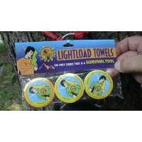 Lightload Towels- Serviettes 30x60cm (3 par paquet) – La seule serviette pouvant également servir d'équipement de survie !